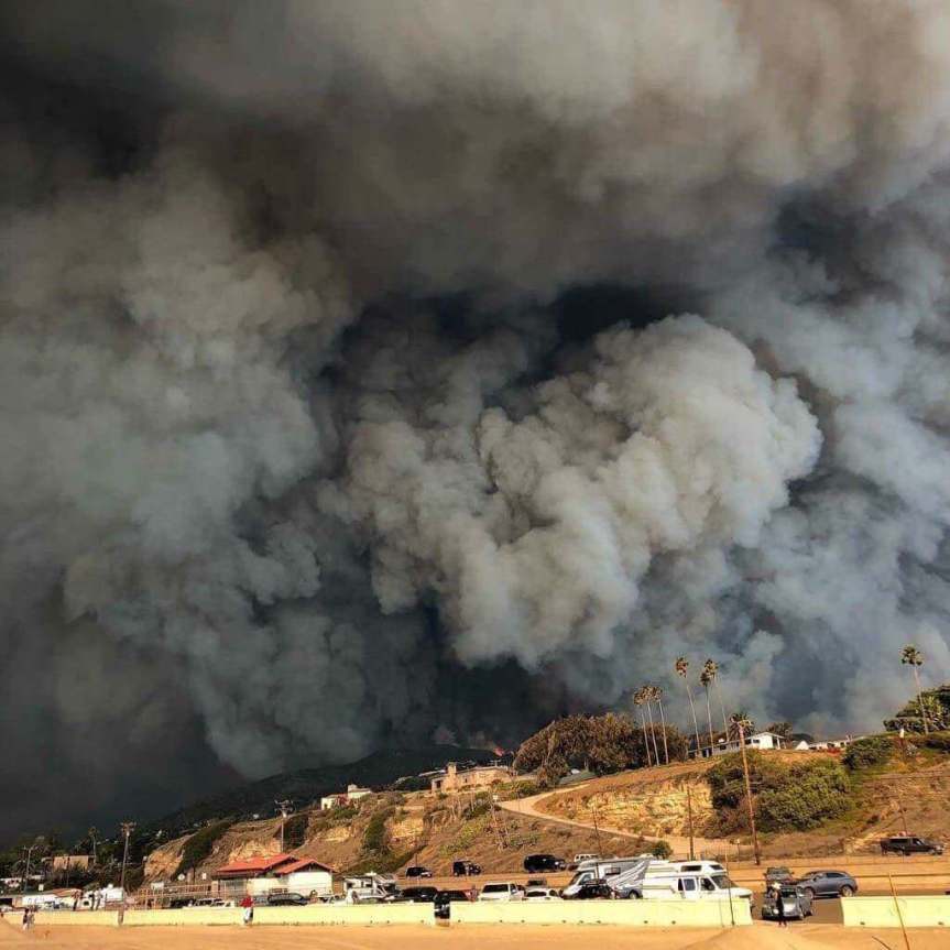 Malibu Fires from a 1st PersonView